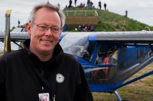 Lars Westvig, formann i Salten mikroflyklubbFoto: Ole H. Sommarset